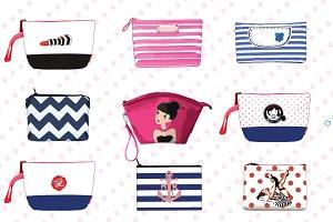 Cosmetics Bags & Makeup Mockup