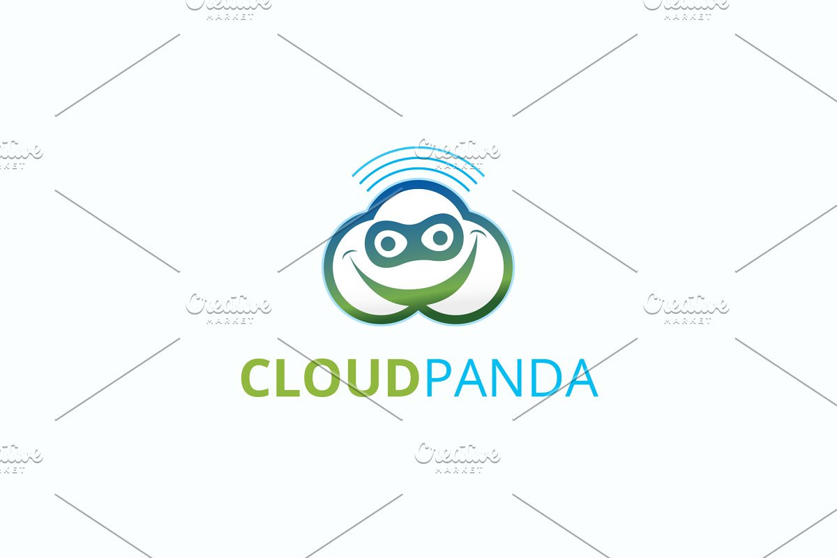 Cloud Panda Logo in Logo Templates - product preview 8