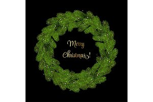 Christmas Wreath Pine Branches