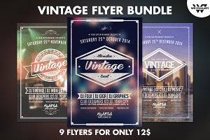 9 VINTAGE Flyer Bundle Vol.1