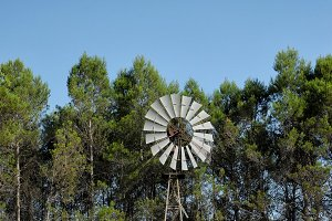 Antique wind mill