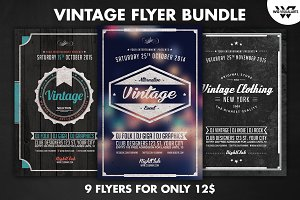 9 VINTAGE Flyer Bundle Vol.2
