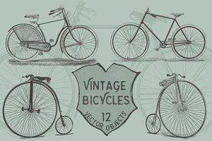 Vintage Bicycles Vector Pack
