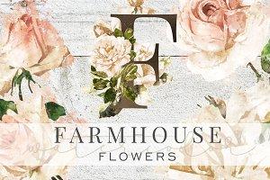 Farmhouse Watercolor Flowers