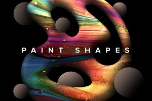 Paint Shapes: 40 Isolated Elements