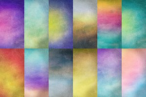 Set of 12 Grunge Gradient Textures