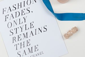 Fashion Quote Candle and Ribbon