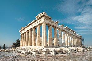 Parthenon on the Acropolis of Athens
