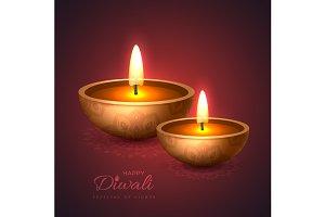 Diwali diya - oil lamp.