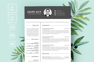 Modern Resume Word Pages