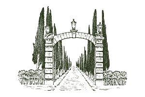 Vintage gates. Victorian doors