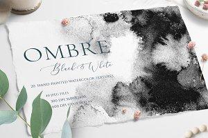Black & Gray Ombre Texture