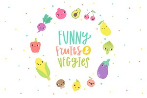 Funny fruits & veggies
