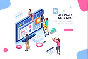 Flat Isometric Display Campaign