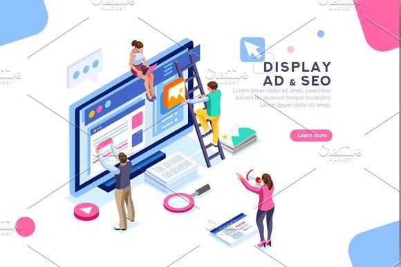 Flat Isometric Display Campaign