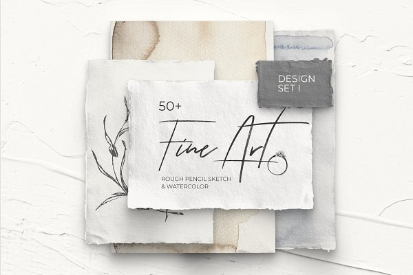 Illustrations and Illustration Products: Lana Elanor - FINE ART l modern design set