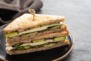 Healthy vegetarian sandwich with