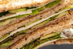 Healthy vegetarian sandwich with