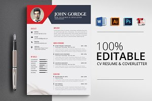 CV Resume Template Word File