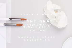 LIGHT GRAY | Creative Paper Mockup