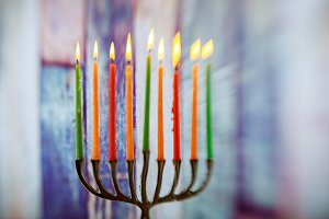 Retro of jewish holiday Hanukkah