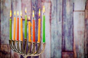 Jewish holiday hannukah symbols