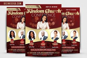 Kingdom Church Conference Flyer Temp