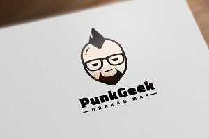 Punk Geek Logo Template