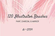 120 Illustrator Brushes