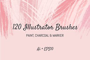 120 Illustrator Brushes