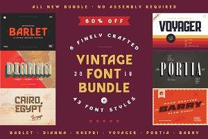 Vintage Font Bundle | 60% off Sale!