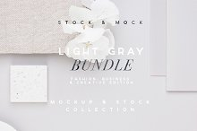 LIGHT GRAY | Blogger Bundle by  in Product Mockups