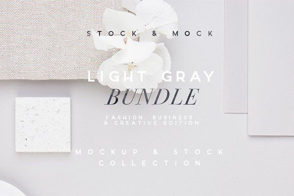 Product Mockups: ana & yvy - LIGHT GRAY | Blogger Bundle