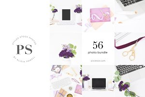 56 Photos - Purple Desktop Bundle