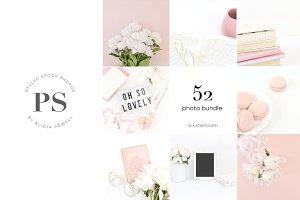 52 Photos - Pink Peony Stock Bundle