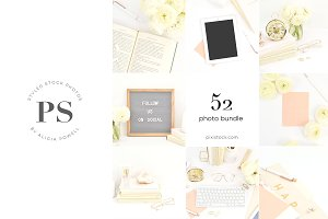 52 Photos - Pink, Blush Stock Bundle