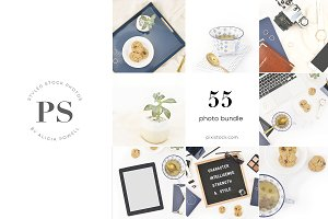 50 Photo - Navy Blue Office Bundle