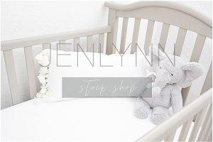 Crib Bedding & Pillow Mockup