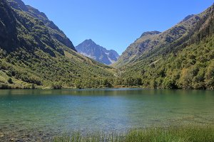 Closeup Lake in Mountains, Caucasus