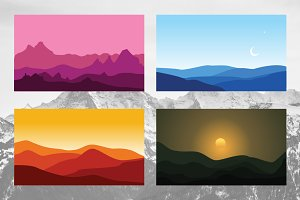4 Afternoon Night Mountain Landscape