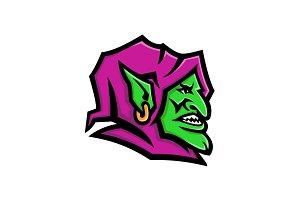 Goblin Head Mascot