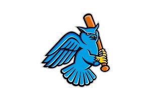 Great Horned Owl Baseball Mascot