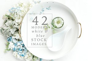 Bundled Modern White Stock Photos