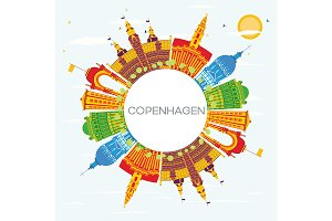 Copenhagen Denmark City Skyline