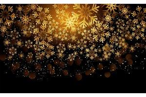Shining Gold Snowflakes.