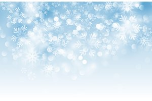 Winter card with snowflakes.