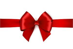 Vector red satin ribbon