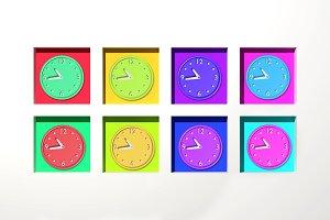 Colored clocks