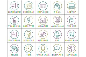 Promotion and Calendar Set Vector