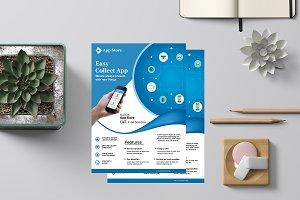 Mobile App Flyer Template-V832